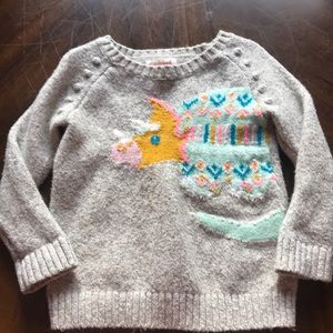 Toddler girl Grey pullover sweater